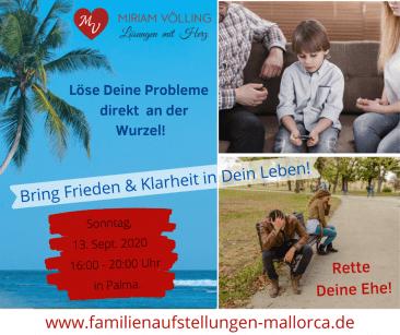 Familienaufstellung in Palma 13.09. @ Aula Balears | Palma | Illes Balears | Spain