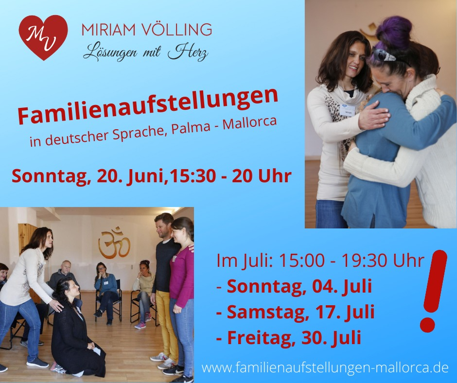 Familienaufstellung in Palma 30.07. @ Aula Balear de Gestalt | Palma | Illes Balears | Spain