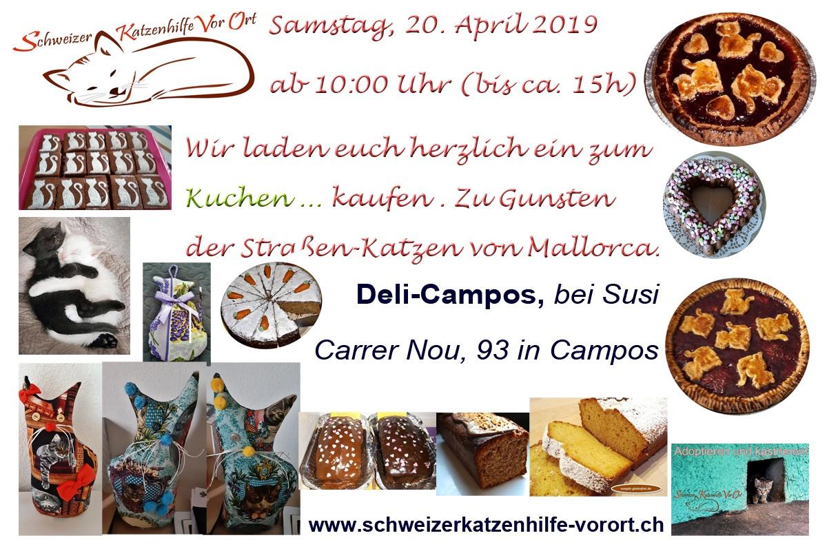 Kuchenverkauf am 20.04.2019