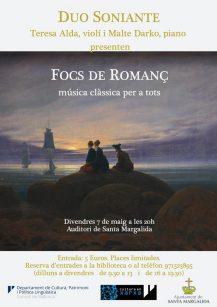 DUO SONIANTE Focs de Romanc @ Auditori de Santa Margalida | Santa Margalida | Illes Balears | Spain