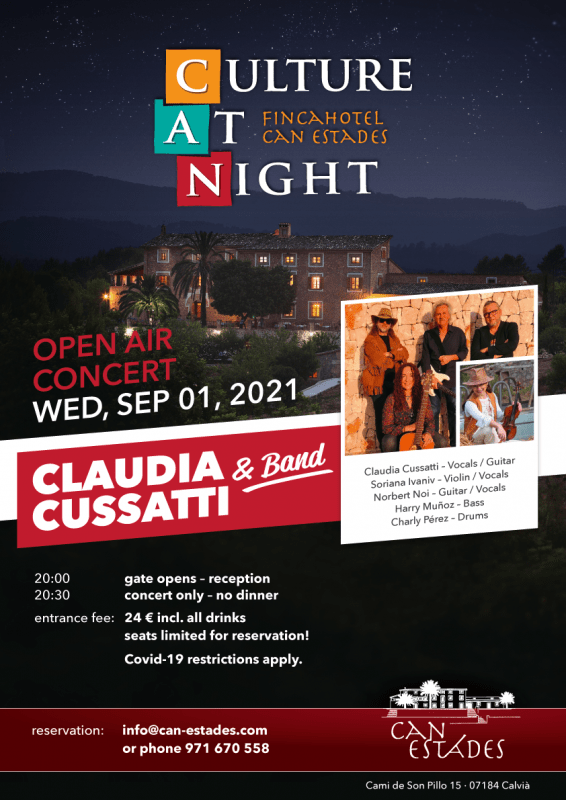 Open Air Konzert Claudia Cussatti & Band @ Fincahotel CAN ESTADES   Calvià   Illes Balears   Spain