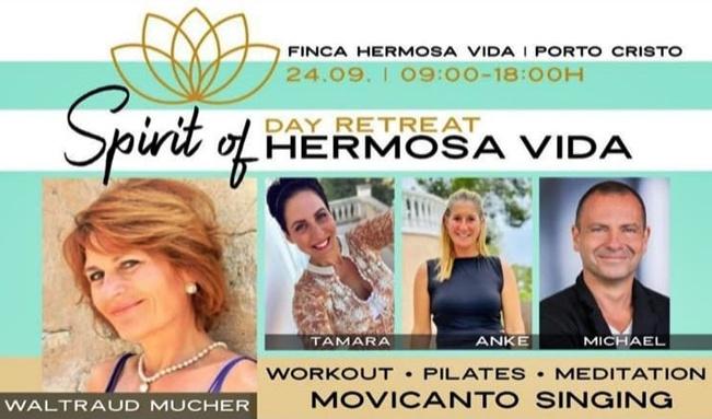 Day Retreat - Spririt of hermosa vida 24.09. @ Finca Hermosa Vida, Porto Cristo   Islas Baleares   Spain