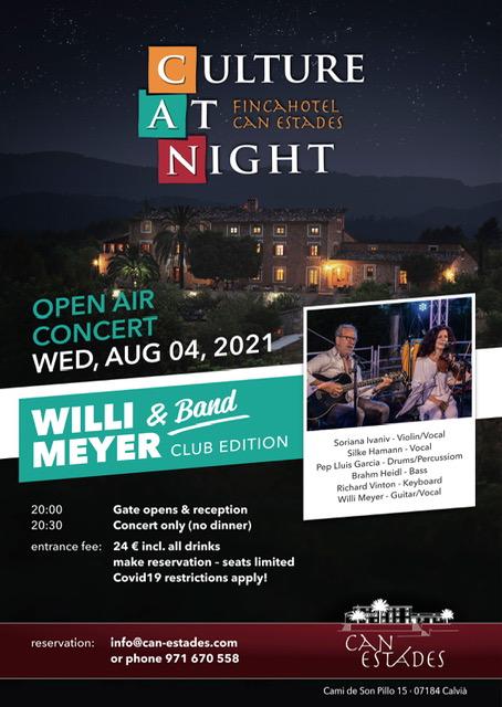 Konzert Willi Meyer & Band @ Finca Hotel Can Estades | Calvià | Illes Balears | Spain